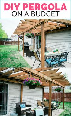 The pergola you choose will probably set the tone for your outdoor living space, so you will want to choose a pergola that matches your personal style as closely as possible. The style and design of your PerGola are based on personal Diy Pergola, Wooden Pergola, How To Build Pergola, Building A Pergola, Small Pergola, Outdoor Pergola, Pergola Attached To House, Pergola With Roof, Front Porch Pergola