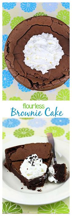 An intensely chocolate flourless cake that bakes up tall and puffy then collapses into the fudgiest cake you will ever taste!