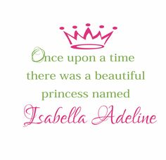 Princess Vinyl Wall Decal - I will make this for Ruby!