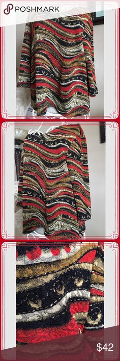 Tiffany Black Multi-Strip Blouse Tiffany Black Multi-Strip Blouse. Shades of red, black, gold and cream make this a gorgeous blouse for work or an evening out. TB Tiffany Black Tops