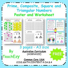Ch Digraph Worksheets Excel Prime Numbers And Composite Numbers  Print And Go  Prime Numbers  Polynomial Practice Worksheet Excel with Essay Worksheet Maths Posters Prime Composite Square And Triangular Numbers Adding Ing And Ed To Words Worksheets