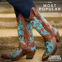 Something blue, maybe.....I'm in love with these Country Outfitter Cowboy Boots ♥