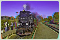 Steam Train 3D ::: HDR Anaglyph Stereoscopy by zour on DeviantArt