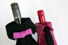 Wine Bottle Cover Decoration Gay Couple Black by RAILOclothing