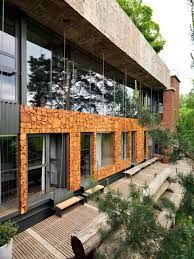 Image result for concrete wood glass
