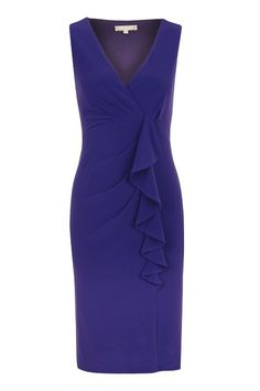 Product - Planet Bright Purple Waterfall Detail Dress