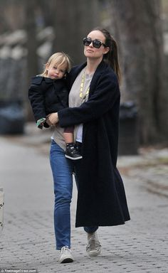 Just the two of us!Olivia Wilde spent her Sunday afternoon bonding with the bright little...
