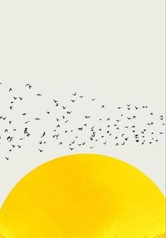 A Thousand Of Birds Abstract Poster