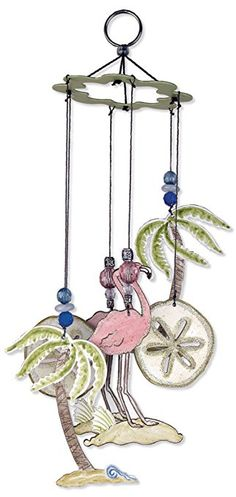 Sunset Vista Designs Water?s Edge Flamingo Wind Chime, 12-Inch Long