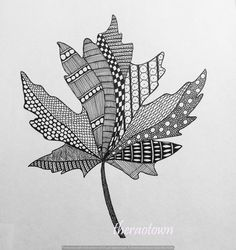 Zentangle Fall Leaves Of zentangle art now and i Doodle Art Drawing, Zentangle Drawings, Mandala Drawing, Pencil Art Drawings, Zentangle Patterns, Art Drawings Sketches, Zentangles, Zen Doodle, Zentangle Art Ideas