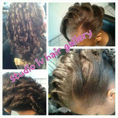 Hair extension added to natural hair client....yesssss ridge curls...