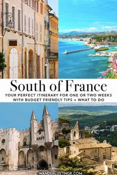 Planning your trip to the South of France? Read your perfect itinerary for the South of France, focused on Provence, for two weeks or one week! Includes cost-cutting tips and what to do in each city! Aix En Provence, Provence France, Nimes France, Cannes, Places To Travel, Travel Destinations, Responsible Travel, Blog Voyage, South Of France
