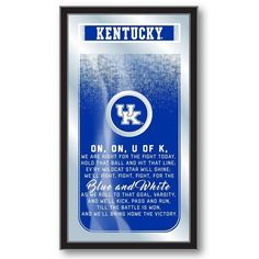 Kentucky Wildcats Fight Song Mirror at SportsFansPlus.com. Visit website for Bonus Coupon!