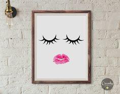 Eyelash print, lashes poster, lashes print, eyelashes printable art, fashion illustration, eyelashes illustration, eye lashes art print #fashionprint