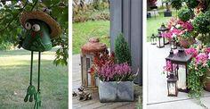 Dodatki w ogrodzie odgrywają niezwykłą rolę, a  mianowicie z ich pomocą możesz nadać nawet najbardziej nudnemu ogrodowi zupełnie inny charakter. #ogród #dodatki #dekoracje #kwiaty #pomysły #inspiracje