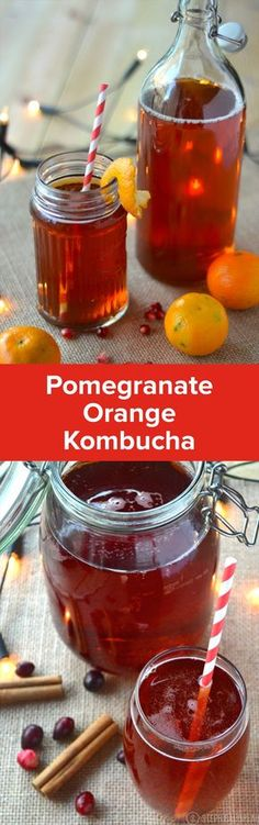 Holiday kombucha flavored with cranberry, orange, and pomegranate is perfect for this time of year. Kombucha Drink, Kombucha Flavors, Kombucha Scoby, How To Brew Kombucha, Kombucha Recipe, Probiotic Drinks, Kombucha Brewing, Making Kombucha, Homebrewing