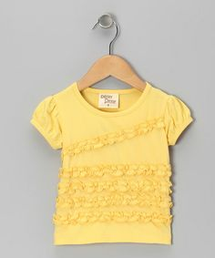 Take a look at this Yellow Ruffle Tee - Toddler & Girls by Cheeky Smyle on #zulily today!