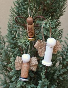Dollar Store Crafts » Blog Archive » Make Cork Angel Ornaments with Recycled Items