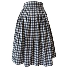 Black and white picnic check cotton rockabilly vintage skirt, early 1960s. Fits like a modern UK 8. Candy Says Vintage Clothing £40