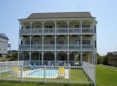 Cottage vacation rental in Emerald Isle from VRBO.com! #vacation #rental #travel #vrbo 8 BR / 6 BA duplex ...4BR and 3 BA on each side ... $3400 per side