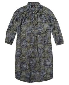 Shirt Dress In Colourful Iconic Feather Print > Womens Clothing > Dresses & All-in-ones at Maison Scotch