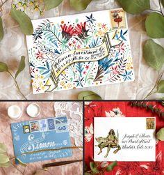 Three Envelope Art Mini-Tutorials – The Postman's Knock Calligraphy Envelope, Envelope Art, Caligraphy, Envelope Addressing, Letter Writing, Letter Art, Mail Art Envelopes, Snail Mail Pen Pals, Postman's Knock