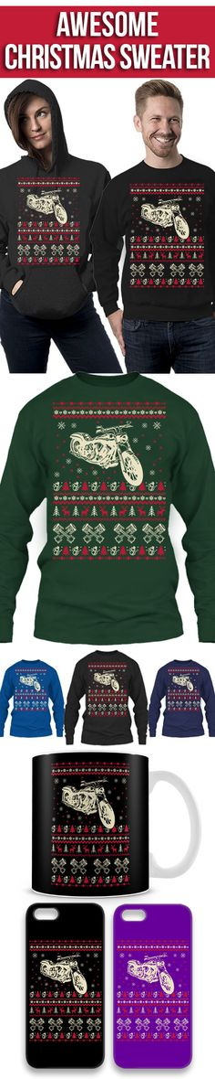 Biker Ugly Christmas Sweater! Click The Image To Buy It Now or Tag Someone You Want To Buy This For. #bike