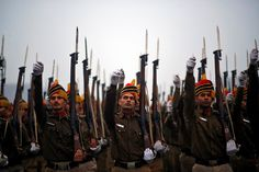 FRIDAY, JAN. 2: INDIA REPUBLIC DAY Indian police officers rehearse for the Republic Day parade amid dense fog on a cold winter morning in New Delhi on Jan. 2, 2015. India will celebrate its annual Republic Day on January 26.