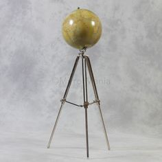 Large Globe On Tripod Stand Out Of Stock Unusual Accessories Home Decor