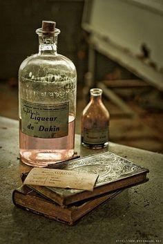 Old bottles & old books