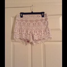 *NWOT* Gorgeous Lace Shorts (L) *NWOT* Gorgeous Lace Shorts. Size large. Brand new without tags. Perfect for Spring! Shorts