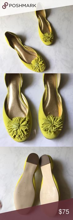 J.crew avocado flats Adorable frilly j crew flats size 7.5 suede leather. Made in Italy J. Crew Shoes Flats & Loafers