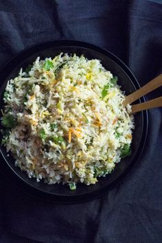 Riced cauliflower an