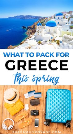 Wondering what to wear in Greece in April and May? We've got your complete Greece packing list for spring, from clothes to shoes to other essentials! #Greece #packinglist #travel | Greece travel trips | Greece vacation outfits what to wear | Greece outfit spring | Greece outfit ideas | Greece outfit what to wear | Greece travel outfits | what to pack for Greece in spring