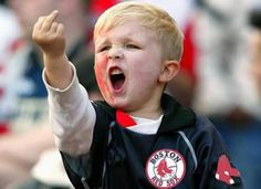 This little charming boy and I agree on the Yankees!!