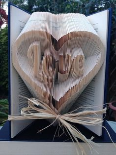 Book Folding Pattern for Love in a Heart by BookFoldingForever
