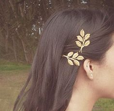 "chastitytonight: ""• Leaf Pendant • Olive Branch Leaves Hair Pins """