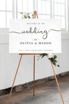 Elegant 'Welcome to our Wedding' Sign Template that you can edit at home. Cheap And Affordable DIY Wedding Hack diy hacks Welcome To Our Wedding, Plan Your Wedding, Wedding Tips, Diy Wedding, Rustic Wedding, Wedding Hacks, Wedding Stuff, Wedding Planning, Sign Templates