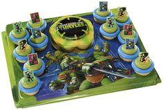 Teenage Mutant Ninja Turtles Cupcake Platter ON by DKDeleKtables Turtle Birthday Parties, Ninja Turtle Birthday, Ninja Turtle Party, Birthday Ideas, Birthday Cakes, Fourth Birthday, Ninja Turtle Cupcakes, Turtle Cakes, Party Food List