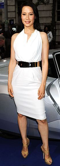 Lucy Liu looks fabulous in this chic Givenchy Dress. #Givenchy is one of my favorite #fashiondesigners!
