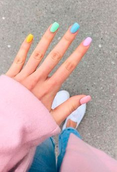 Discover recipes, home ideas, style inspiration and other ideas to try. Classy Nails, Stylish Nails, Simple Nails, Trendy Nails, Acrylic Nails Coffin Short, Best Acrylic Nails, Colored Acrylic Nails, Pastel Nails, Coffin Nails