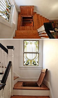 21 secret rooms for homeowners who have something to hide Lock up your valuables or hide yourself from annoying house guests with any of these hidden rooms and secret passageways. Secret Rooms In Houses, Cool Secret Rooms, Hidden Spaces, Safe Room, Dream Rooms, My Dream Home, Home Projects, Home Remodeling, Basement Renovations