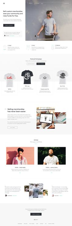 The landing page for a new platform that allows you to put your artwork on merchandise and create a campaign to crowdfund them.  Full Pixels  This initial landing page has been put live whilst we w...