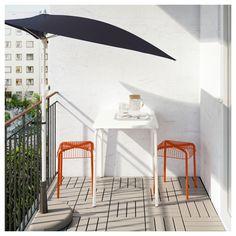IKEA - VÄDDÖ / VÄSTERÖN Table and 2 stools, outdoor white, orange