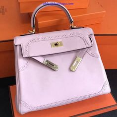 Hermes Kelly 28cm Swift Calfskin with Lace Bag