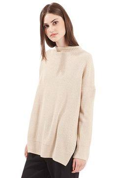 Topshop Topshop Funnel Side Split Sweater available at #Nordstrom