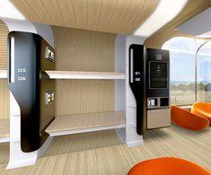 Bombardier Car, Futuristic Train, Andrey Chirkov