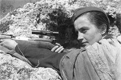 Comrade Lyudmila Pavlichenko, most successful female sniper in history (USSR)