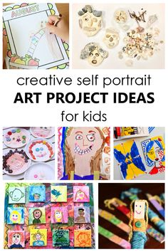 Use these creative Self-Portrait Art Project Ideas to inspire kids to create art and learn more about one another. Great keepsake gift idea! Fun Activities For Kids, Creative Activities, Creative Kids, Preschool Activities, Kids Fun, Kindergarten Self Portraits, Self Portrait Drawing, Creative Self Portraits