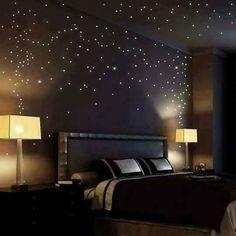 blau 100 Stk nachtleuchtende Sterne Wandsticker Sternenhimmel Schlafzimmer Glow the dark zum aufkleben im Kinderzimmer als Nachtlicht Baby Wandtattoo Aufkleber